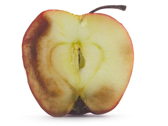 酸化リンゴ